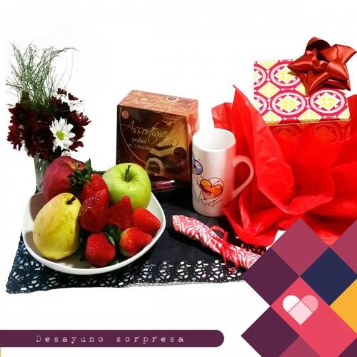 Frutas y chocolate